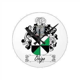 Escudo de la familia de Origo Reloj Redondo Mediano