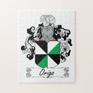 Escudo de la familia de Origo Rompecabezas Con Fotos