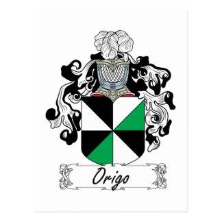 Escudo de la familia de Origo Tarjetas Postales