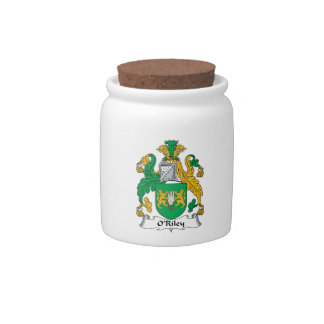 Escudo de la familia de O'Riley Jarras Para Caramelos