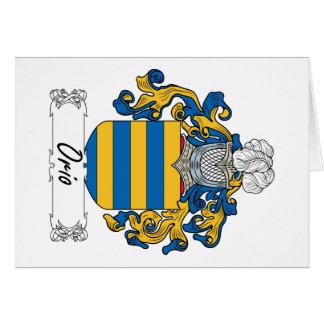 Escudo de la familia de Orio Tarjeta De Felicitación