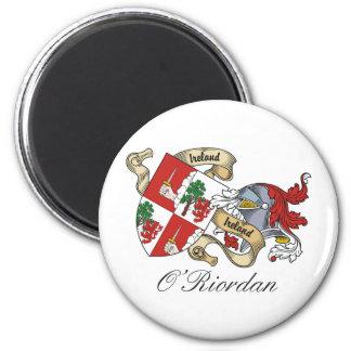 Escudo de la familia de O'Riordan Imán Redondo 5 Cm