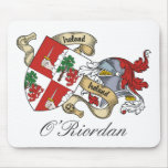 Escudo de la familia de O'Riordan Tapetes De Ratones