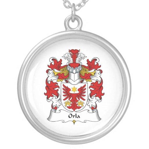 Escudo de la familia de Orla Colgante Redondo