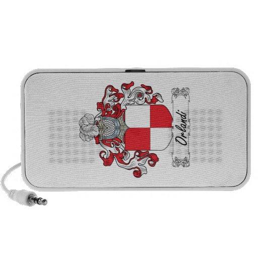 Escudo de la familia de Orlandi iPod Altavoz