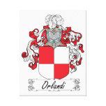 Escudo de la familia de Orlandi Lienzo Envuelto Para Galerias