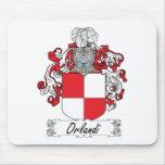 Escudo de la familia de Orlandi Tapetes De Ratón