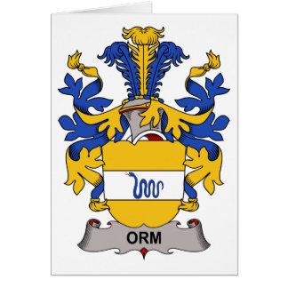 Escudo de la familia de Orm Tarjeta De Felicitación