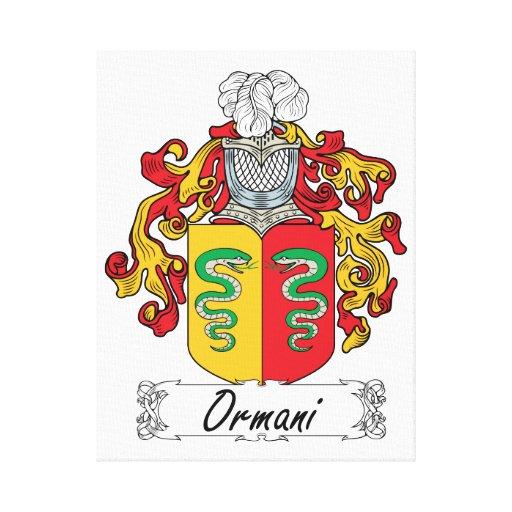 Escudo de la familia de Ormani Impresión De Lienzo