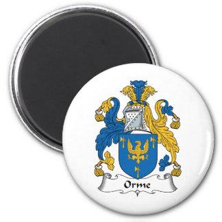 Escudo de la familia de Orme Imán Redondo 5 Cm