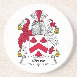 Escudo de la familia de Orme Posavasos Personalizados