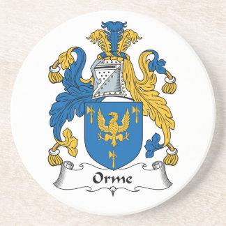 Escudo de la familia de Orme Posavasos Para Bebidas