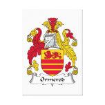 Escudo de la familia de Ormerod Impresión En Lienzo Estirada