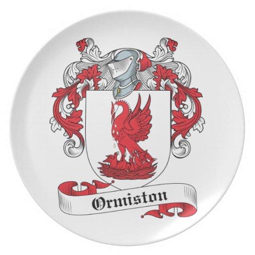 Escudo de la familia de Ormiston Plato Para Fiesta