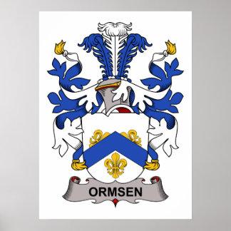Escudo de la familia de Ormsen Póster