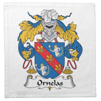 Escudo de la familia de Ornelas Servilletas Imprimidas