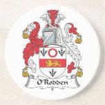 Escudo de la familia de O'Rodden Posavasos Manualidades