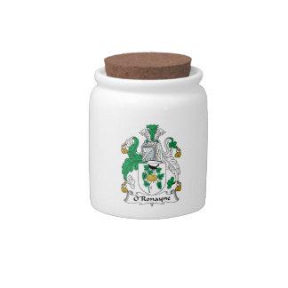 Escudo de la familia de O'Ronayne Jarras Para Caramelos