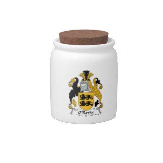 Escudo de la familia de O'Rorke Jarras Para Caramelos