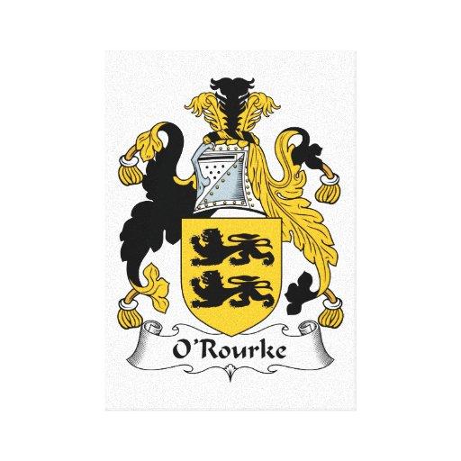 Escudo de la familia de O'Rourke Impresión En Lona
