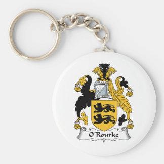 Escudo de la familia de O'Rourke Llavero Redondo Tipo Pin