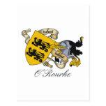 Escudo de la familia de O'Rourke Tarjeta Postal