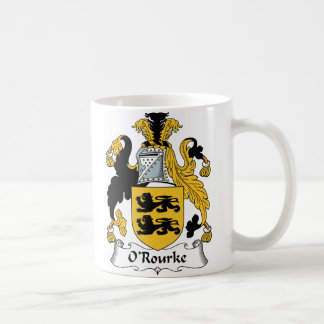 Escudo de la familia de O'Rourke Tazas