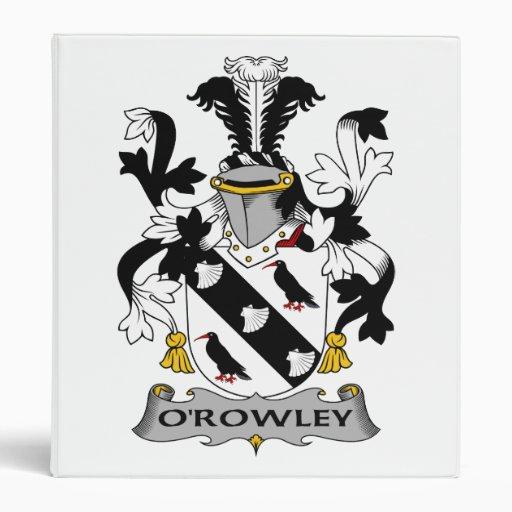 Escudo de la familia de O'Rowley