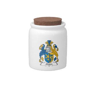 Escudo de la familia de Orpen Platos Para Caramelos
