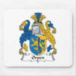 Escudo de la familia de Orpen Alfombrillas De Ratones