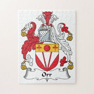Escudo de la familia de Orr Puzzle