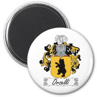 Escudo de la familia de Orselli Imanes Para Frigoríficos