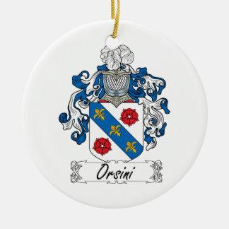 Escudo de la familia de Orsini Ornamentos De Navidad