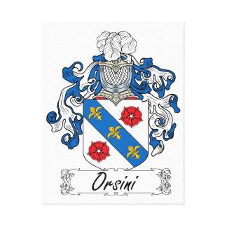 Escudo de la familia de Orsini Lona Envuelta Para Galerias