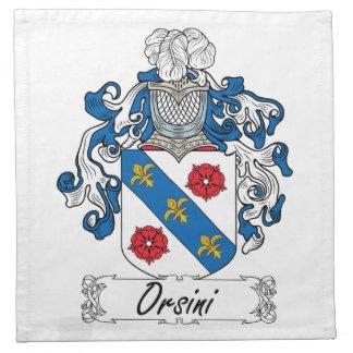 Escudo de la familia de Orsini Servilleta Imprimida