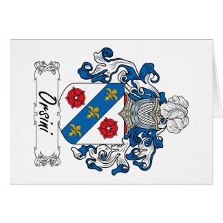 Escudo de la familia de Orsini Tarjeta