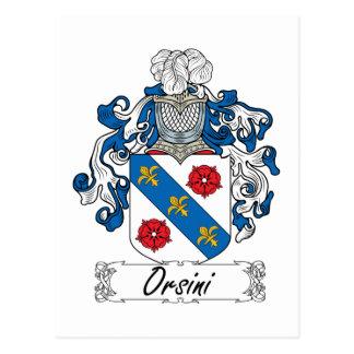Escudo de la familia de Orsini Tarjetas Postales