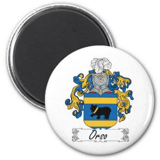 Escudo de la familia de Orso Imán Redondo 5 Cm