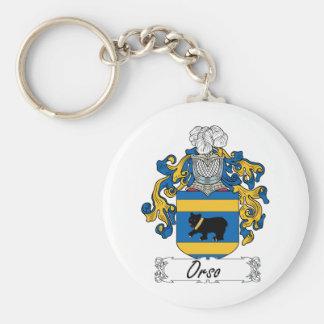 Escudo de la familia de Orso Llavero Redondo Tipo Pin