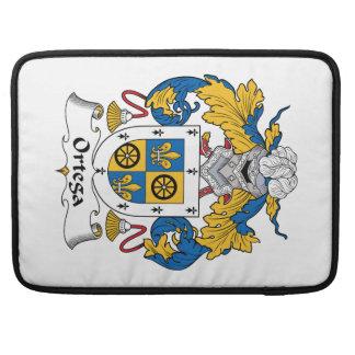 Escudo de la familia de Ortega Funda Macbook Pro