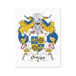 Escudo de la familia de Ortega Impresiones En Lona Estiradas
