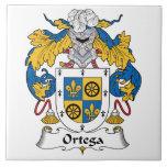 Escudo de la familia de Ortega Teja Ceramica