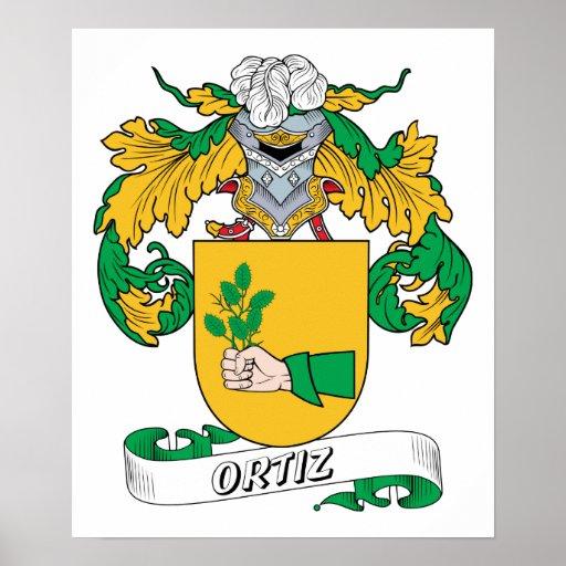 Escudo de la familia de Ortiz Póster