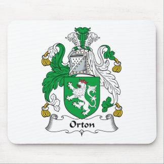 Escudo de la familia de Orton Alfombrillas De Ratones