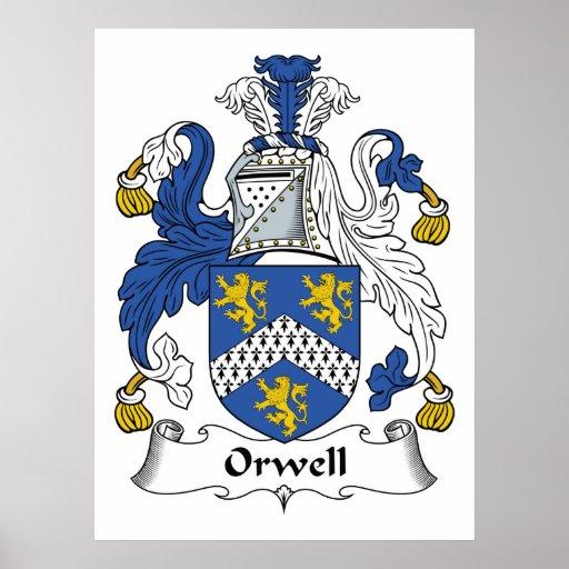 Escudo de la familia de Orwell Poster