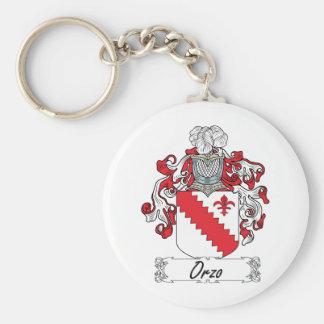 Escudo de la familia de Orzo Llavero Redondo Tipo Pin