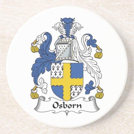 Escudo de la familia de Osborn Posavasos Para Bebidas