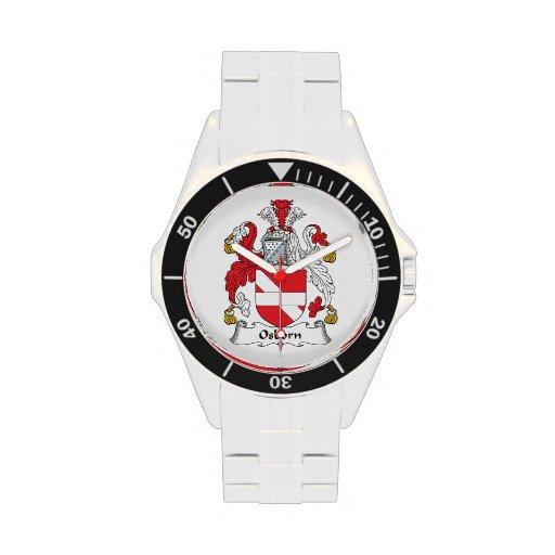 Escudo de la familia de Osborn Reloj