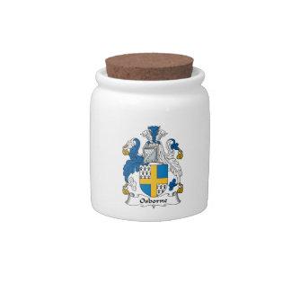 Escudo de la familia de Osborne Platos Para Caramelos