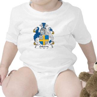 Escudo de la familia de Osborne Traje De Bebé